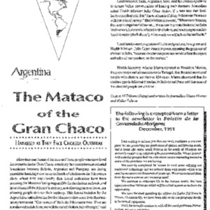 The Mataco of the Gran Chaco: Harassed as They Face Cholera Outbreak (Argentina)