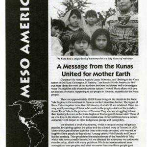 A Message from the Kunas United for Mother Earth